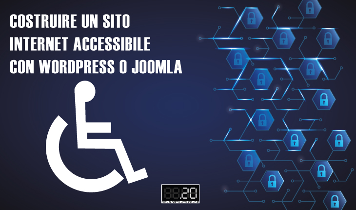 sito accessibile con WP e Joomla