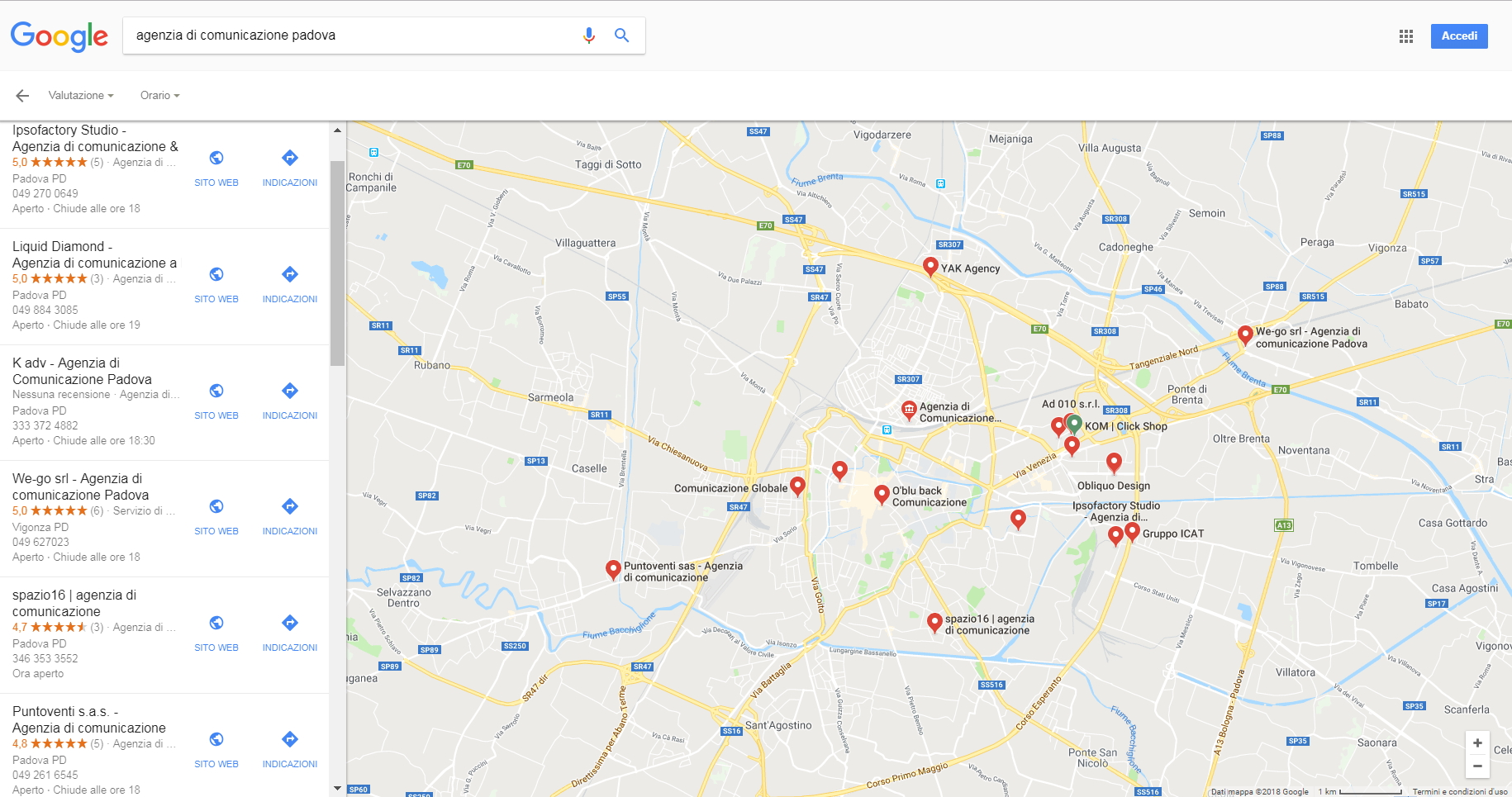 Local Search Marketing Maps