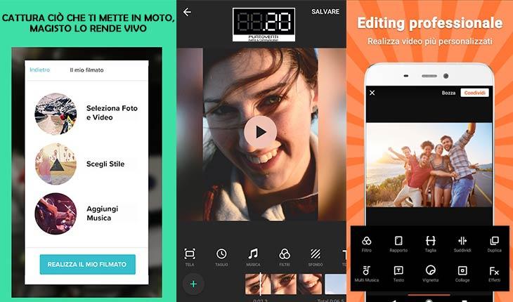 5 app di video editing fai da te