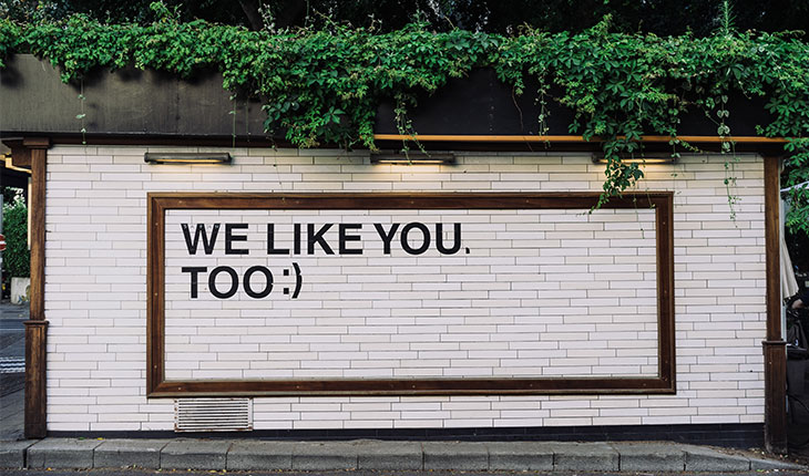 social media engagement - we like you too