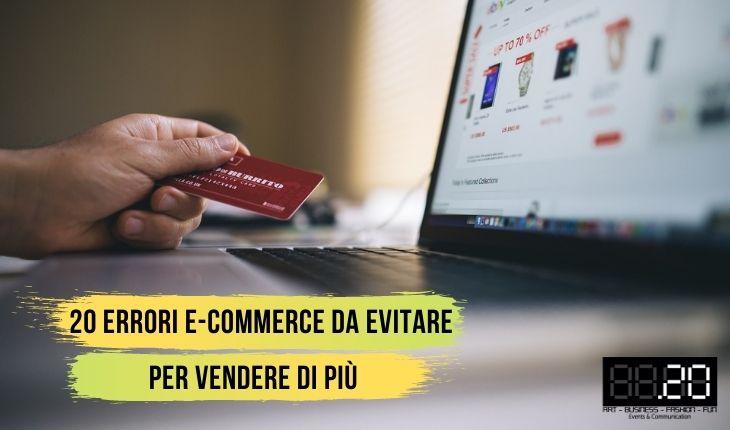 20 errori e-commerce da evitare